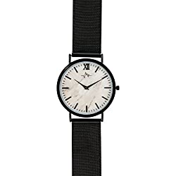 Andreas Osten Ladies Womens Black Bezel Mesh Strap Wrist Watch A0-192