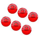 Sharplace Edelstahl D Ring Pad/Patch Für PVC Schlauchboot (6 Stück Pack) - Rot