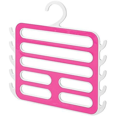 InterDesign Remy - Percha organizadora de armario con 7 ranuras y 10 ganchos