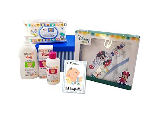 box Regalo E' l'ora del Bagnetto Trudi - Disney Fai da te igiene neonato nascita (Azzurro - Topolino)