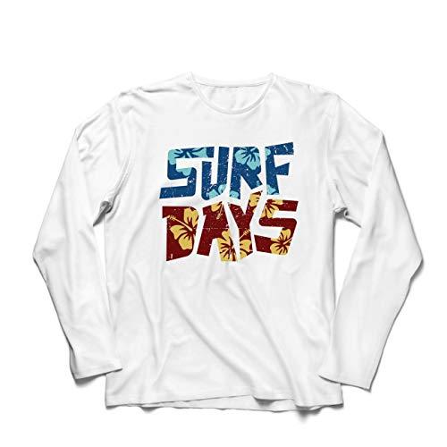 irts Sommer-Strand-Surftage, Kleidung für Surfboard-Liebhaber (Large Weiß Mehrfarben) ()