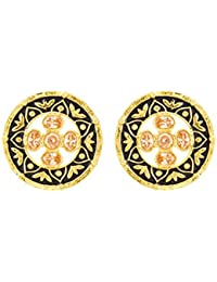 Voylla Fashion Alloy With Yellow Gold Plated Cubic Zirconia Earrings For Women