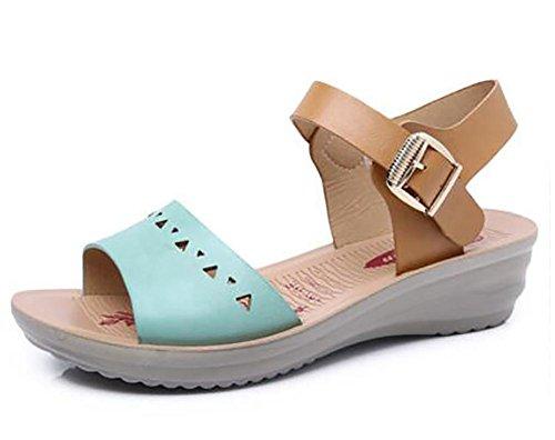 Sandali estivi nei pattini anziani con sandali sandali sandali in pelle di grandi dimensioni 1