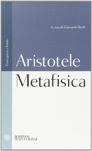 METAFISICA - ARISTOTELE por Aristotele