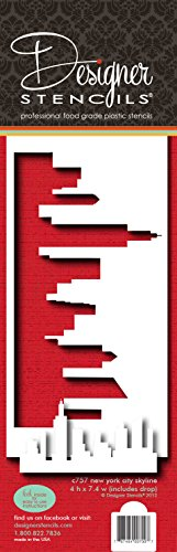 Designer Schablonen C757New York Skyline Kuchen Schablone und Vorlage, beige/halbtransparent -