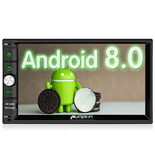 Pumpkin Android 8.0 Autoradio GPS Universal 2 Din 7 Pulgadas Soporta Bluetooth...