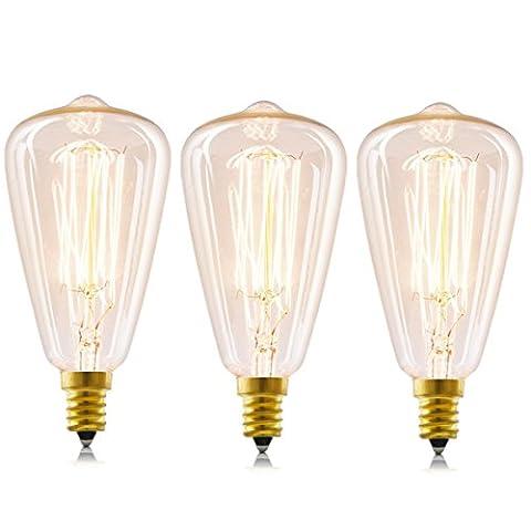 licperron Edison Leuchtmittel E14Schraube ST4840W 220V Antik-glas Vintage Leuchtmittel, dimmbar, 3Stück
