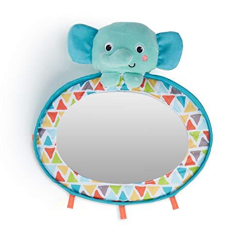Bright Starts Babyspiegel für das Gitterbett oder Auto, mit Schlaufen zum Anbringen weiterer Spielsachen