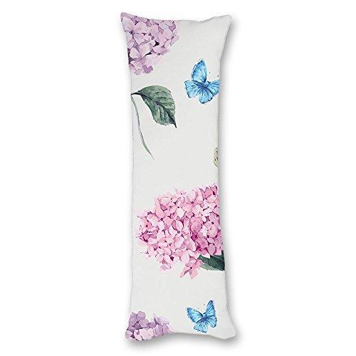 Valentine Herty Unique conçu Corps Taie d'oreiller Fleurs Papillon 50,8 x 137,2 cm
