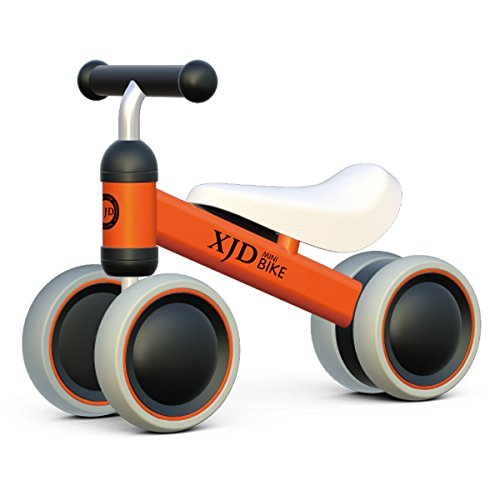 XJD Baby balance Bike Bicycle Children Walker, Toddler Trike, Kids Ride On, 10 to 24 Months Infant Walking Toys for 1 Year Old Boys Girls Indoor Outdoor�(Orange)