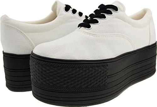 Maxstar  C60-5H,  Damen Sneaker Low-Tops TC-White