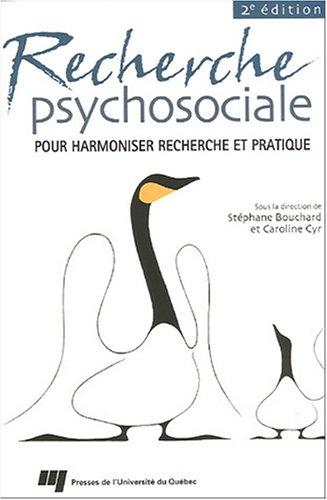 Recherche psychosociale : Pour harmoniser recherche et pratique