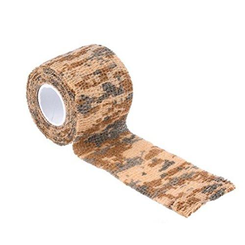 VORCOOL Tarnung Tape Camo Wrap selbstklebende Vlies Camo Stretch Bandage für die Jagd Pistole/Messer/Taschenlampe/Teleskop/Fahrrad