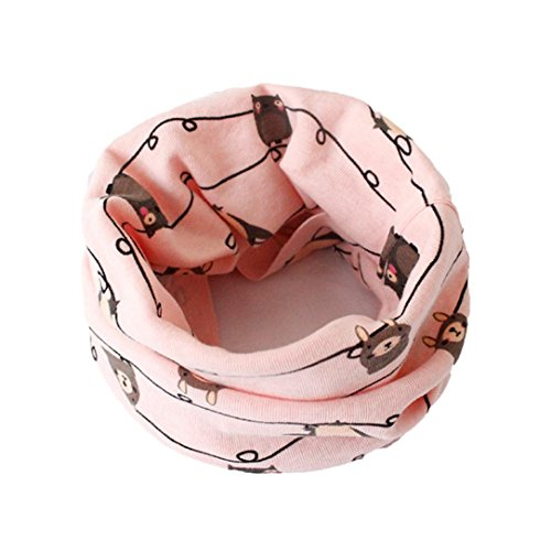 HKFV Herbst Winter Jungen Mädchen Baby Niedlich Schal O-Ring Verpackungs Halstücher Schal Baumwolle O-Ring Hals Schals Neck Scarves (Anzug für 0 bis 3 Jahre alt) (E6) (Lycra-o-ring)