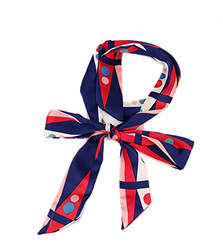 Damen Schmal Krawattenschal Skinny Satin Tie Scarf 200cm*4,5cm