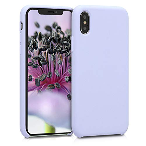 kwmobile Apple iPhone X Hülle - Handyhülle für Apple iPhone X - Handy Case in Pastell Lavendel