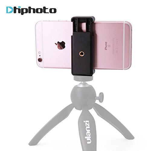 Ulanzi Mobile Phone Clip Clamp Holder, Smartphone Tripod Mount Adapter Universal for iPhone 8 X 7 6 Plus Samsung Galaxy S6