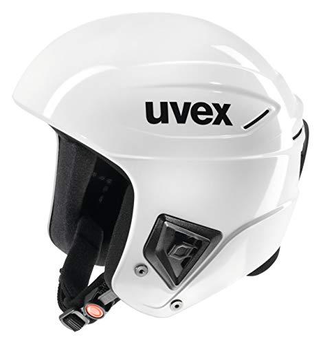 uvex Unisex- Erwachsene, race +  Skihelm, all white, 56-57 cm