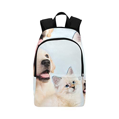 Cat Dog Together Neva Masquerade Kätzchen Casual Daypack Reisetasche College School Rucksack für Herren und Frauen
