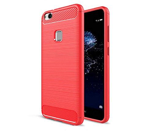 Custodia Huawei P10 lite, Custodia Armor con Copertura Morbida di Silicone Case Cover per Huawei P10 lite (red)