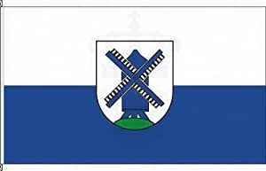 Königsbanner Tischfähnchen Edewecht - Tischflaggenständer aus Chrom
