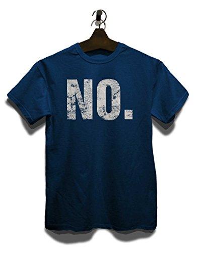 No Vintage T-Shirt Navy Blau