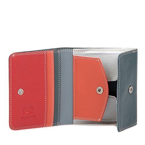 MyWalit Bi-Fold Portafoglio in pelle con vassoio portamonete/sezione note in confezione regalo 123, (Urban Sky), One Size