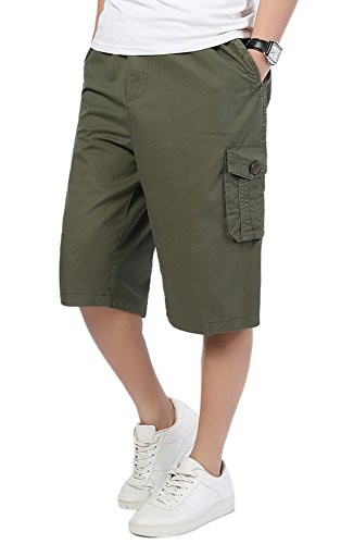 DQQ Herren Short Gr. xxl, Grün - Army (3 Pocket-basketball-shorts)