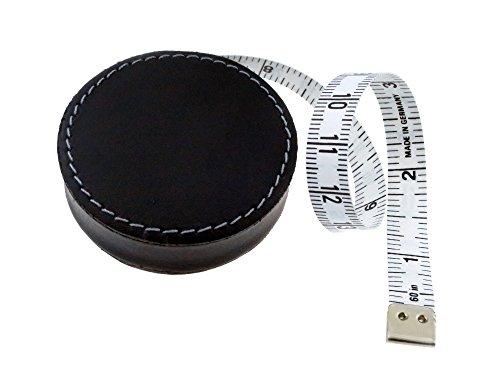 8203 Rollmaßband ecco im Leder-Design, 150 cm / 60 Zoll ()