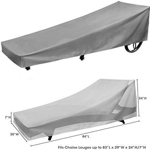 JS-YHLUSI Schutzhülle (Grau), Draussen Lounge-Sessel Staubschutz (Upgrade), Wasserdicht Anti-UV...