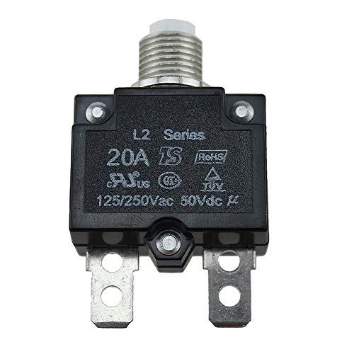 Schutzschalter 5A/10A /15A/20A/30AMP Air Schalter Elektrische Schutz Thermo Panel Halterung Rückstellbare Druckknopf Geformte Hülle 5A5A) - 20a, 20a -