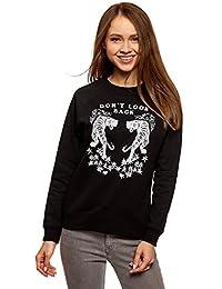 oodji Ultra Mujer Suéter Holgado con Estampado