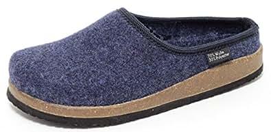 zapato damen filz hausschuhe in navy blau gr 37 schuhe handtaschen. Black Bedroom Furniture Sets. Home Design Ideas
