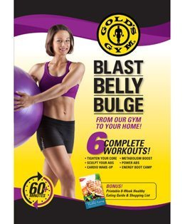 gold gym belly gulge Gold 's Gym Blast Bauch Wulst DVD 6 Komplett Workouts 60 + Minuten