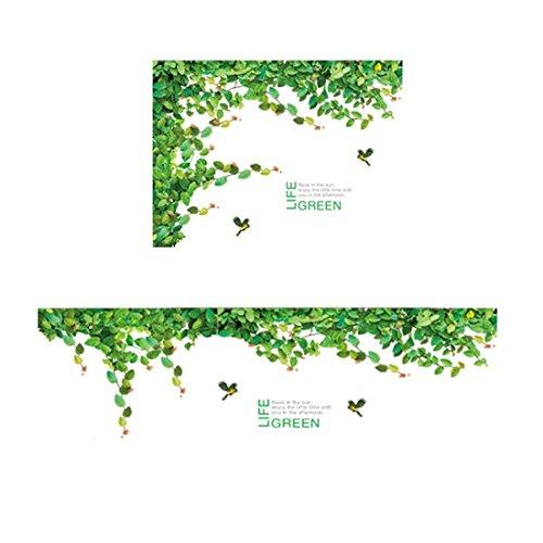 Stazsx Moderne kreative Wandtattoos & Wandbilder Tapete Selbstklebende Wohnzimmer Sofa TV Hintergrundbild Frische Ornament Dach Decke Aufkleber Efeu Aufkleber -