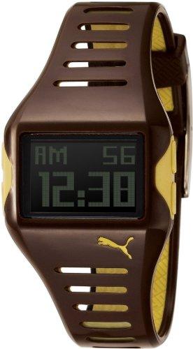 Puma Time - PU910182004 - Montre Femme - Quartz - Digitale - Chronographe - Alarme - Temps intermédiaires - Eclairage - Bracelet Plastique Marron