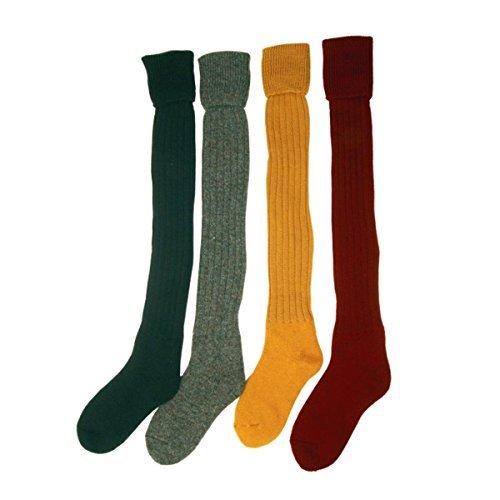 Bisley Olive Green Plain Breek Stockings - Size 8 to 9.5