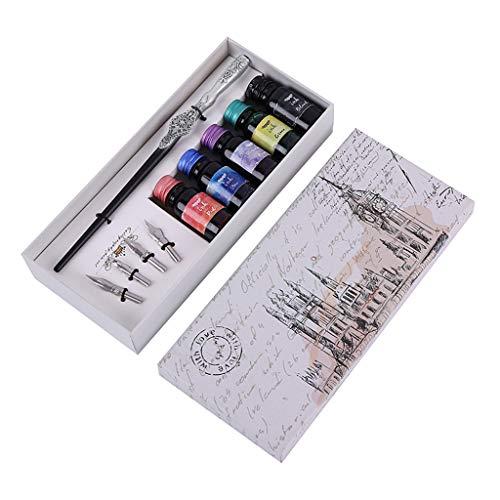 Dip Pen Füllfederhalter/Füllfederhalter/Schreibfarbe/Schreibspitze silber