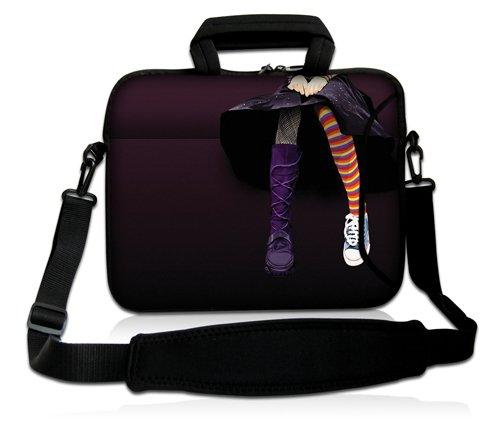 Luxburg® Design Laptoptasche Notebooktasche Sleeve mit Schultergurt und Fach für 15,6 Zoll, Motiv: Strümpfe