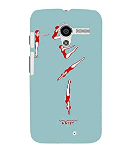 EPICCASE Swimmer Mobile Back Case Cover For Moto X (Designer Case)