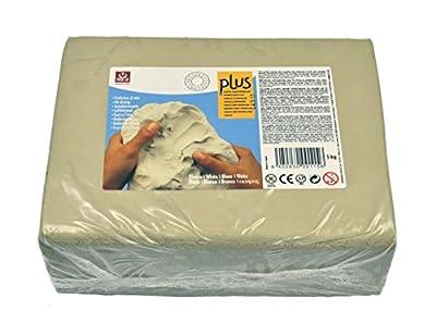 Sio2 Plus - Argilla da modellare, 5 kg, colore: bianco by Ceramica Collet S.A.