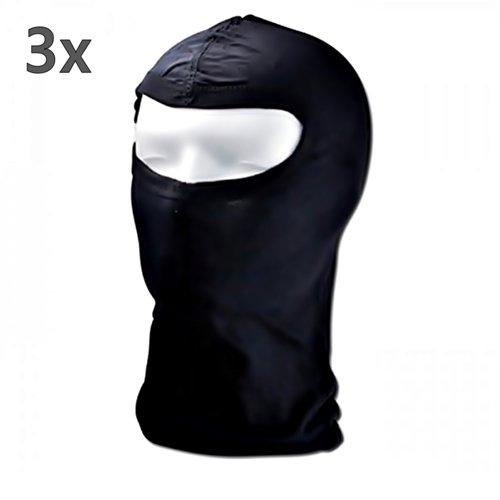 Preisvergleich Produktbild Sturmhaube mit Panorama Sichtfeld - Sturmmaske Skimaske OMA BW SEK KSK GSG9 100% Baumwolle schwarz