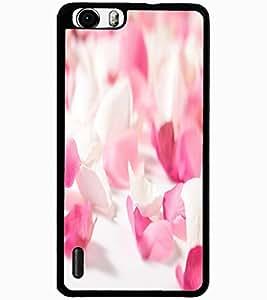 ColourCraft Rose Petals Design Back Case Cover for HUAWEI HONOR 6 PLUS