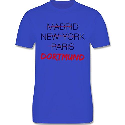 Städte - Weltstadt Dortmund - Herren Premium T-Shirt Royalblau