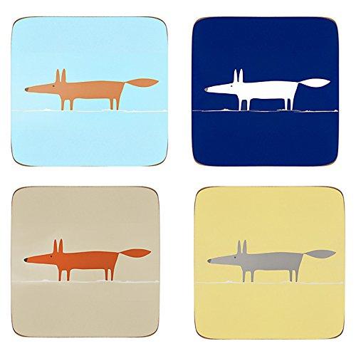 scion-mr-fox-set-of-four-coastersdifferent-colours