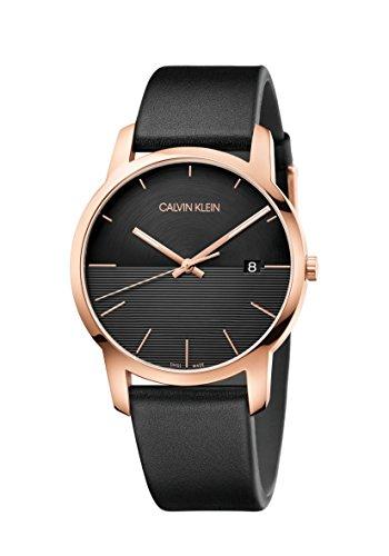 Calvin Klein Reloj Analógico para Hombre de Cuarzo con Correa en Cuero K2G2G6CZ