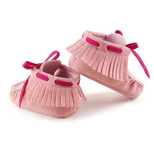 Winter Babyschuhe Jamicy® Baby-weiche Schuhe Soft-Krippe Schuhe Kleinkind Stiefel Winter warme Schuhe Boots (12~18 Monat, Watermelon Red) Rosa