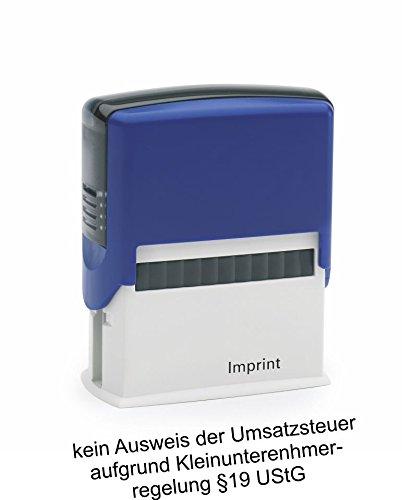 Lagerstempel / Selbstfärber kein Ausweis der Umsatzsteuer von Kaufhaus2010