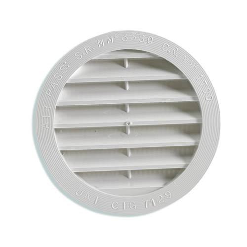 Fawo Lüftungsgitter rund weiß 80 mm… | 04041431001903