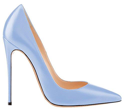uBeauty - Escarpins Femmes - Chaussures Stilettos - Talon Aiguille - Grande Taille - Chaussures Femme Talons bleu clair